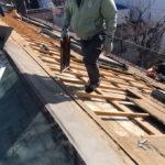 屋根破損復旧工事